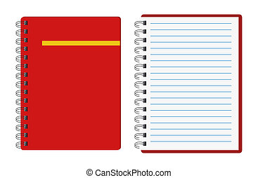 notitieboekjes, rood