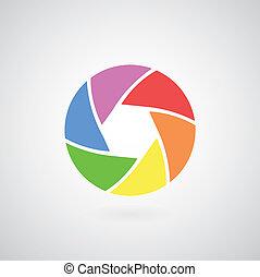objectief, fototoestel, pictogram