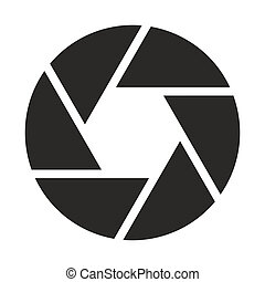 objectief, fototoestel, (symbol), pictogram