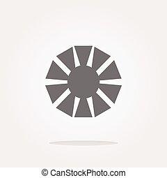 objectief, fototoestel, (symbol), vector, pictogram