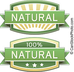 of, voedingsmiddelen, natuurlijke , etiket, product