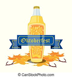 oktoberfest, bier fles, viering