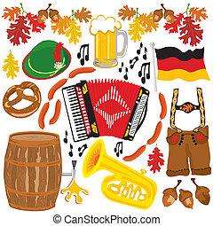 oktoberfest, communie, feestje, clipart
