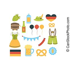 oktoberfest, communie, kleurrijke