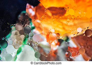 olie, achtergrond, water., kleurrijke, abstract