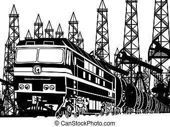 olie, locomotief, amtrak