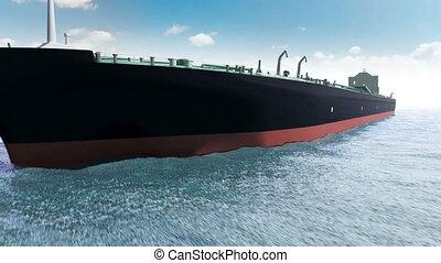 olietanker, zee