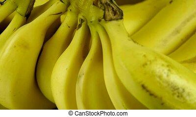 omwenteling, fruit, plaat., banaan, heerlijk