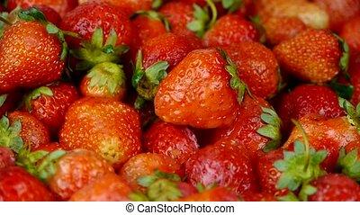 omwenteling, strawberry., heerlijk