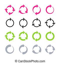 omwenteling, verversen, reload, cirkel