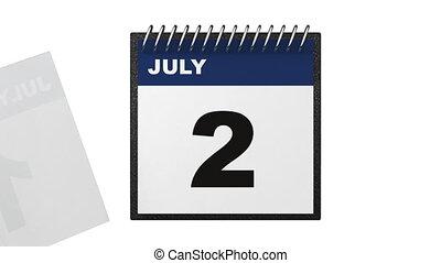 onafhankelijkheid dag, concept, kalender