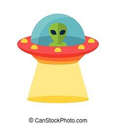 onbekend, vliegen, ufo, voorwerp