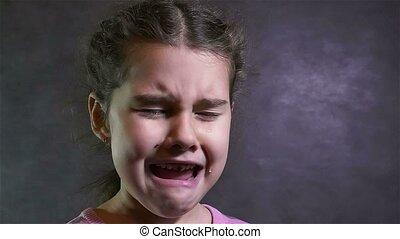 onder spanning, stroom, motie, meisje, tiener, verticaal, problemen, vertragen, schreeuwen, gehuil