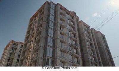 onder, woongebied, (new, bouwsector, gebouw, complex).