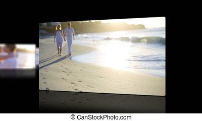 ondergaande zon , paar, video's