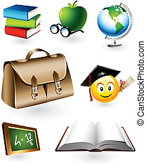 onderwijs, vector, communie
