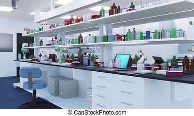 onderzoek, interieur, nee, wetenschappelijk, 3d, laboratorium, mensen