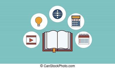 online, elektronisch, animatie, hd, boek