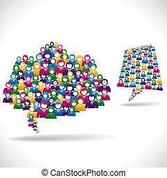 online, marketing, concept, strategie