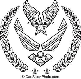 ons, blazoen, militair, kracht, lucht