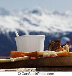 ontbijt, alpen