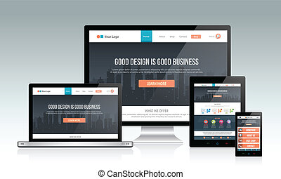 ontvankelijk, website, ontwerp