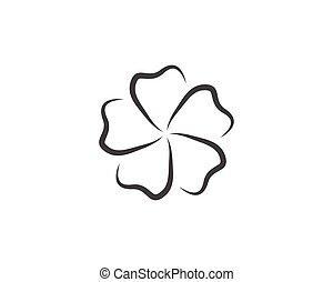 ontwerp, bloemen, illustratie, plumeria, beauty