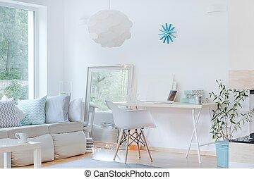 ontwerp, kamer, verfijnd