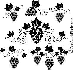 ontwerp, winery, communie, set