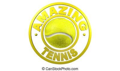 ontwerp, witte achtergrond, circulaire, tennis