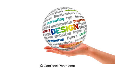 ontwerp, woord, bol