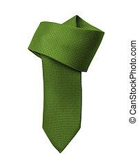 op, groene achtergrond, vastknopen, afsluiten, witte
