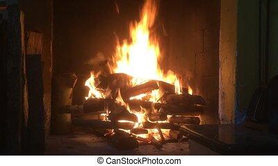 openhaard, vuur, burning