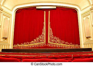 opera huis, interieur, -, toneel
