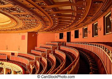 opera huis, seating, interieur, -