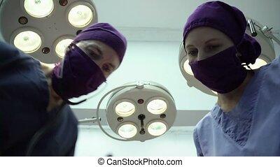 operatie, artsen, kamer, kliniek