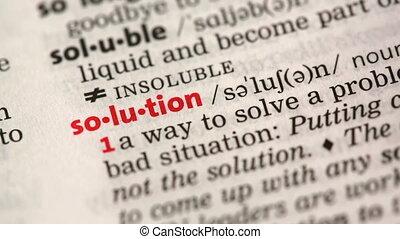 oplossing, definitie