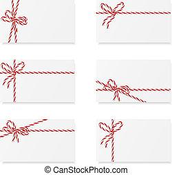 opmerkingen, buigingen, kaart, cadeau