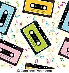 opmerkingen, cassettes, cassette, achtergrond, audio, muzikalisch