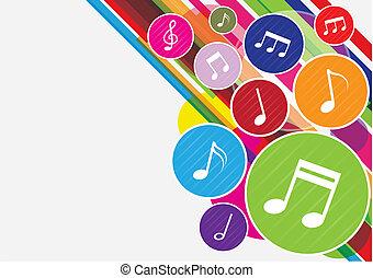 opmerkingen, muziek, kleurrijke, achtergrond