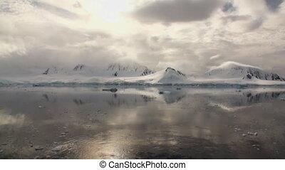 oppervlakte, reflectie, water, antarctica, berg