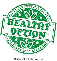 optie, postzegel, gezonde