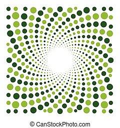 optisch, cyclic, vector, illusie, achtergrond, punten
