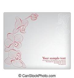 orchid., card., moeder, groet, vector, dag