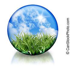 organisch, orb, pictogram, cirkel, natuur