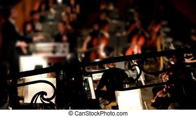 orkest, theater, aanzicht