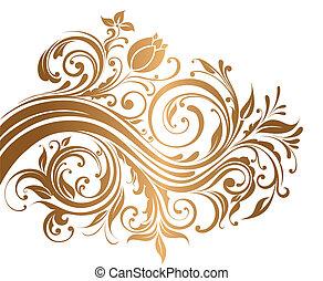 ornament, goud