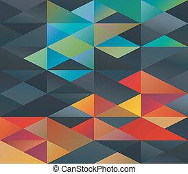 ornament, kleurrijke, driehoeken
