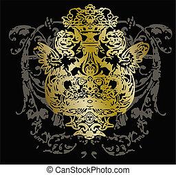 ornament, van een stam, embleem, ontwerp