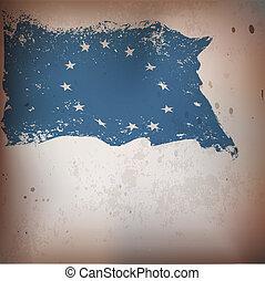 oud, achtergrond, verbond vlag, eu, textured